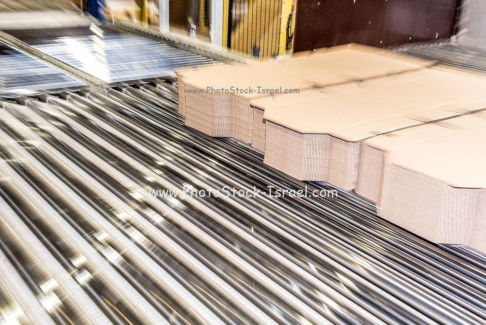 Conveyor belt automation at a corrugated cardboard manufacturing plant