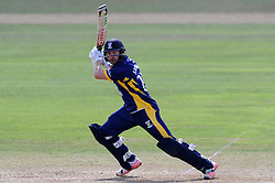 Durham's Mark Stoneman hits out - Photo mandatory by-line: Harry Trump/JMP - Mobile: 07966 386802 - 29/07/15 - SPORT - CRICKET - Somerset v Durham - Royal London One Day Cup - The County Ground, Taunton, England.