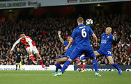 Arsenal's Alexis Sanchez fires in a shot during the Premier League match at the Emirates Stadium, London. Picture date: April 26th, 2017. Pic credit should read: David Klein/Sportimage