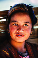 Young woman, near Darjeeling, West Bengal, India
