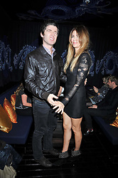 NOEL GALLAGHER and SARA MacDONALD at the launch of the new Chinawhite at 4 Winsley Street, London on 21st October 2009.