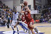 DESCRIZIONE : Eurocup 2015-2016 Last 32 Group N Dinamo Banco di Sardegna Sassari - Cai Zaragoza<br /> GIOCATORE : Stevan Jelovac<br /> CATEGORIA : Tiro Penetrazione Fallo<br /> SQUADRA : Cai Zaragoza<br /> EVENTO : Eurocup 2015-2016<br /> GARA : Dinamo Banco di Sardegna Sassari - Cai Zaragoza<br /> DATA : 27/01/2016<br /> SPORT : Pallacanestro <br /> AUTORE : Agenzia Ciamillo-Castoria/L.Canu