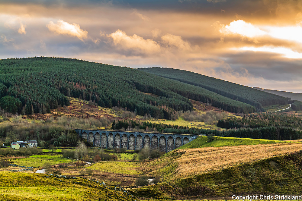 Hawick, Scottish Borders, Scotland, UK. 17th December 2020. Shankend viaduct, situated south of Hawick in Liddesdale. The Edinburgh to Carlisle service of the North British Railway, the Waverley Line, cut through the valley until the closure of the Borders Railways in 1969.