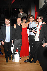 LILY ALLEN and the Kaiser Chiefs at the 10th annual GQ Men of the Year Awards held at the Royal Opera House, Covent Garden, London on 4th September 2007.<br />