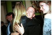 Gwyneth Paltrow, alexander McQueen and Plum Sykes. Mario Testino portraits. National Portrait Gallery. 29/1/02 © Copyright Photograph by Dafydd Jones 66 Stockwell Park Rd. London SW9 0DA Tel 020 7733 0108 www.dafjones.com