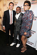 NEW YORK, NEW YORK-JUNE 4: (L-R Peter W. Kunhardt, Jr., Executive Director, The Gordon Parks Foundation, Visual Artist Kehinde Wiley (Honoree) and Visual Artist Amy Sherald attend the 2019 Gordon Parks Foundation Awards Dinner and Auction Red Carpet celebrating the Arts & Social Justice held at Cipriani 42nd Street on June 4, 2019 in New York City.  (photo by terrence jennings/terrencejennings.com)