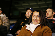 Saturday October 14th 2006. .Giants Stadium, East Rutherford, New Jersey. United States..Sophie Djorkaeff watches her hunsband Red Bulls French soccer player Youri Djorkaeff who plays a game that could be his last one as a professional player against Kansas City at the Giants Stadium.