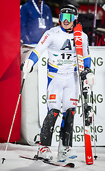 26.01.2016, Planai, Schladming, AUT, FIS Weltcup Ski Alpin, Schladming, Slalom, Herren, 2. Durchgang, im Bild Jens Byggmark (SWE) // Jens Byggmark of Sweden reacts after his 2nd run of men's Slalom Race of Schladming FIS Ski Alpine World Cup at the Planai in Schladming, Austria on 2016/01/26. EXPA Pictures © 2016, PhotoCredit: EXPA/ Johann Groder