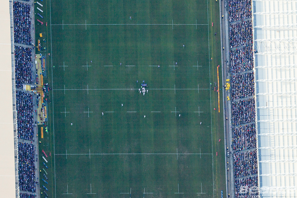 DHL Newlands Stadium during the Stormers - Chiefs rugby game 8th April 2017. Photographs captured from a helicopter with all necesssary permissions granted. Image by Greg Beadle