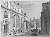 Coopers' Hall, Basinghall Street, engraving from 'Metropolitan Improvements, or London in the Nineteenth Century' London, England, UK 1828 , drawn by Thomas H Shepherd
