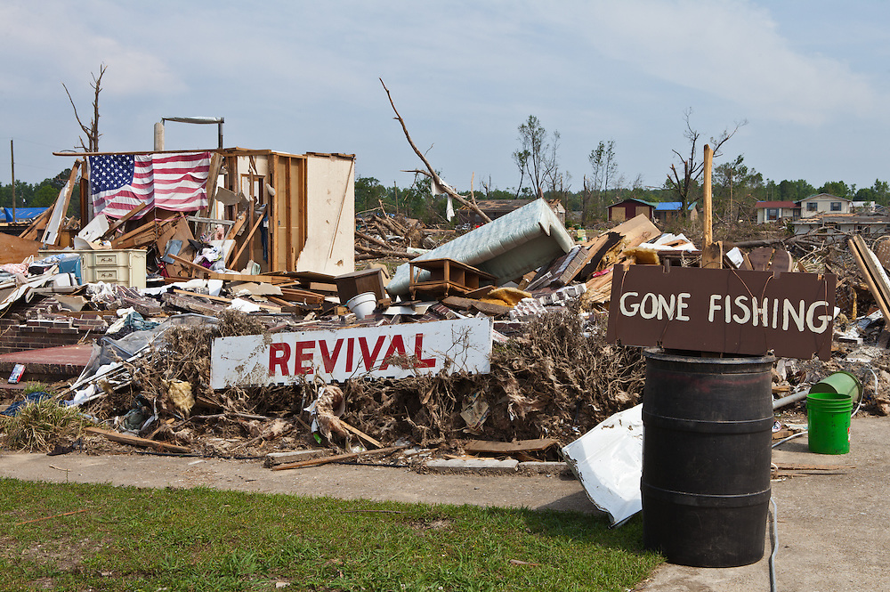 Pleasant Grove, a suburb of Birmingham<br />  Alabama <br /> remains in a state of ruin over two weeks after it was hit by an F-4 ( possibly an F-5) tornado, one of an estimated 300 that struck Alabama and the neighboring states on April 27th , 2011.