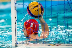 Eelco Wagenaar of the Netherlands in action against Croatia during the Olympic qualifying tournament. The Dutch water polo players are on the hunt for a starting ticket for the Olympic Games on February 15, 2021 in Rotterdam
