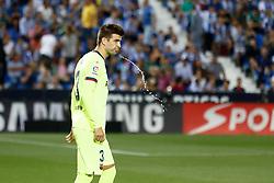 September 26, 2018 - Gerard Pique of FC Barcelona during the La Liga (Spanish Championship) football match between CD Leganes and FC Barcelona on September 26th, 2018 at Municipal Butarque stadium in Madrid, Spain. (Credit Image: © AFP7 via ZUMA Wire)