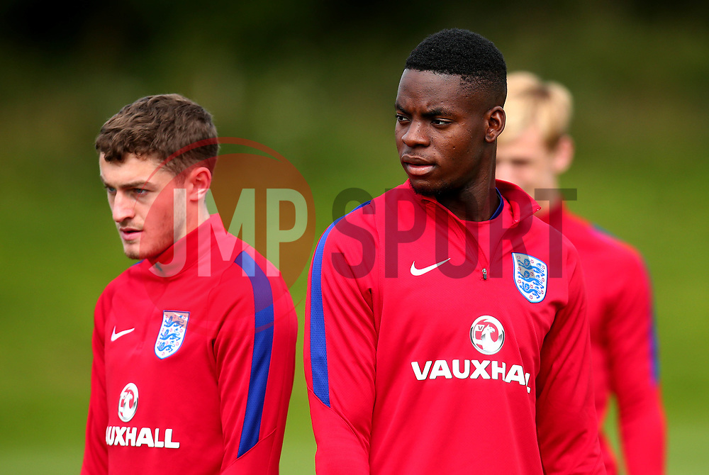 Jonathan Leko takes part in training with England Under 19s ahead of the International Friendlies against Poland and Germany - Mandatory by-line: Robbie Stephenson/JMP - 31/08/2017 - FOOTBALL - England U19 - Training session ahead of international friendlies against Poland and Germany