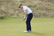 Ronan Cowhey (Blackrock College) on the 7th green during the Final of the Irish Schools Senior Championship at Portstewart Golf Club, Portstewart, Co Antrim on Tuesday 23rd April 2019.<br /> Picture:  Thos Caffrey / www.golffile.ie