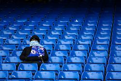 A fan sits along at Stamford Bridge - Mandatory byline: Jason Brown/JMP - 16/04/2016 - FOOTBALL - London, Stamford Bridge - Chelsea v Manchester City - Barclays Premier League