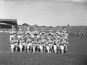 The Kerry team before the All Ireland Senior Gaelic Football Championship Final, Kerry vs Galway in Croke Park on the 27th September 1959. Kerry 3-7 Galway 1-4.<br /> Front row (from left) P Hussey, P Sheehy, J Culloty, Miceal O'Connell, J Dowling (captain), S Murphy, T Lyons, D Geaney. Back Row (from left) Sean Murphy, D McAuliffe, K Coffey, J O'Shea, M Dwyer, Tomas Long, Niall Sheehy, Tadgh Lyne.