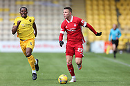 Aberdeen's Florian Kamberi (22) dribbles the ball during the Scottish Premiership match between Livingston and Aberdeen at Tony Macaroni Arena, Livingstone, Scotland on 1 May 2021.