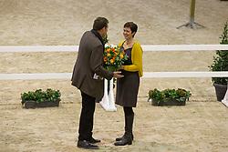 Keersmaekers Kris, (BEL), Voorzitter, Lieve De Greeff<br /> BWP Hengsten keuring Koningshooikt 2015<br /> © Hippo Foto - Dirk Caremans<br /> 23/01/16