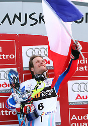 Winner Julien Lizeroux at first run of 9th men's slalom race of Audi FIS Ski World Cup, Pokal Vitranc,  in Podkoren, Kranjska Gora, Slovenia, on March 1, 2009. (Photo by Vid Ponikvar / Sportida)