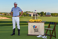 Corey Conners (CAN) dons the cowboy boots for winning the Valero Texas Open, at the TPC San Antonio Oaks Course, San Antonio, Texas, USA. 4/7/2019.<br /> Picture: Golffile | Ken Murray<br /> <br /> <br /> All photo usage must carry mandatory copyright credit (© Golffile | Ken Murray)