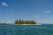 The Goió Island, Barra Grande Bay, Maraú Peninsula, in the brazilian state of Bahia. The Goió Island is a stop during the cruise around the Barra Grande Bay where tourists use to spend some time in beach activities and drinking beverages on the island bar. Diego Murray / 4See