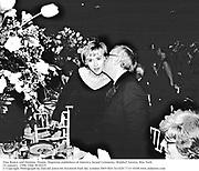 Tina Brown and Dominic Dunne. Magazine publishers of America Award Ceremony. Waldorf Astoria. New york. 24 January. 1996. Film 9626f19<br /><br />© Copyright Photograph by Dafydd Jones 66 Stockwell Park Rd. London SW9 0DA Tel 020 7733 0108 www.dafjones.com