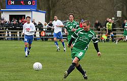 FODBOLD: Sebastian Hviid (Helsingør) under kampen i Kvalifikationsrækken, pulje 1, mellem Rishøj Boldklub og Elite 3000 Helsingør den 9. april 2007 på Rishøj Stadion. Foto: Claus Birch