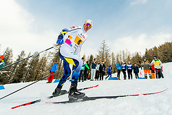 February 3, 2018 - Goms, SWITZERLAND - 180203 Leo Johansson of Sweden competes in the women's 4x3,3 km relay during the FIS Nordic Junior World Ski Championships on February 3, 2018 in Obergoms..Photo: Vegard Wivestad GrÂ¿tt / BILDBYRN / kod VG / 170098 (Credit Image: © Vegard Wivestad Gr¯Tt/Bildbyran via ZUMA Press)