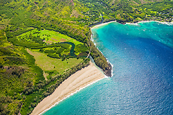 Lumahai River, Lumahai Beach, Wainiha River, and Wainiha Beach Park, North Shore, Kauai, Hawaii, USA, Pacific Ocean
