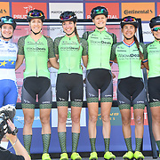 WaowDeals Pro Cycling (Ned) photocall at Prudential RideLondon Classique at the Mall on 28 July 2018, London, UK