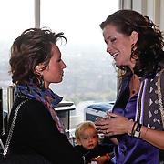 NLD/Amsterdam/20101011 - Presentatie By Danie Styleguide magazine, Leontine Borsato - Ruiters en Paulien Huizinga - Mol