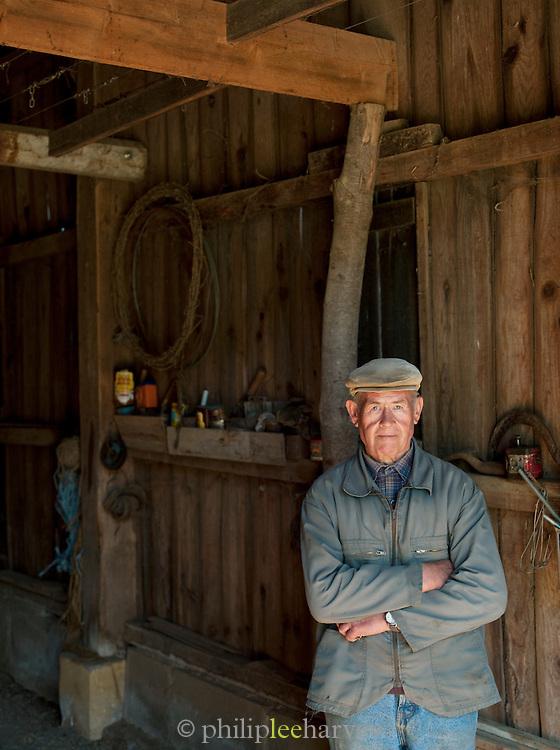 A local farmer in the Dordogne region of France