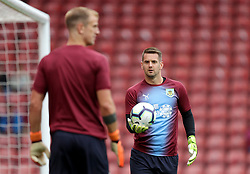 """Burnley goalkeepers Thomas Heaton (right) and Joe Hart before the Premier League match at St Mary's, Southampton. PRESS ASSOCIATION Photo. Picture date: Sunday August 12, 2018. See PA story SOCCER Southampton. Photo credit should read: Andrew Matthews/PA Wire. RESTRICTIONS: EDITORIAL USE ONLY No use with unauthorised audio, video, data, fixture lists, club/league logos or """"live"""" services. Online in-match use limited to 120 images, no video emulation. No use in betting, games or single club/league/player publications."""