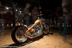 Matt Jackson's 1950 Harley-Davidson Panhead chopper from Austin Texas at the Mama Tried Bike Show. Milwaukee, WI, USA. Saturday, February 18, 2017. Photography ©2017 Michael Lichter.