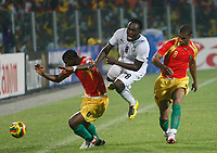 Photo: Steve Bond/Richard Lane Photography.<br />Ghana v Guinea. Africa Cup of Nations. 20/01/2008. Michael Essien (C) is fouled