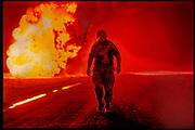 """US Marine, Kuwait - 'Sadam's Bonfire"""" THE SUNDAY TIMES MAGAZINE (UK)"""