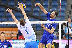 Toncek Stern, Maxim Mikhaylov during the European Championship game Russia - Slovenia on August 26, 2017 in Krakow, Poland. (Photo by Krzysztof Porebski / Press Focus)