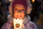 NO FEE PICTURES<br /> 31/12/15 Sophia Brachen, age 7, Stillorgan at the NYF Procession of Light at St Stephens Green, part of the New Years Festival in Dublin. nyf.com running from 30th Dec to 1st Jan in Dublin. Picture: Arthur Carron