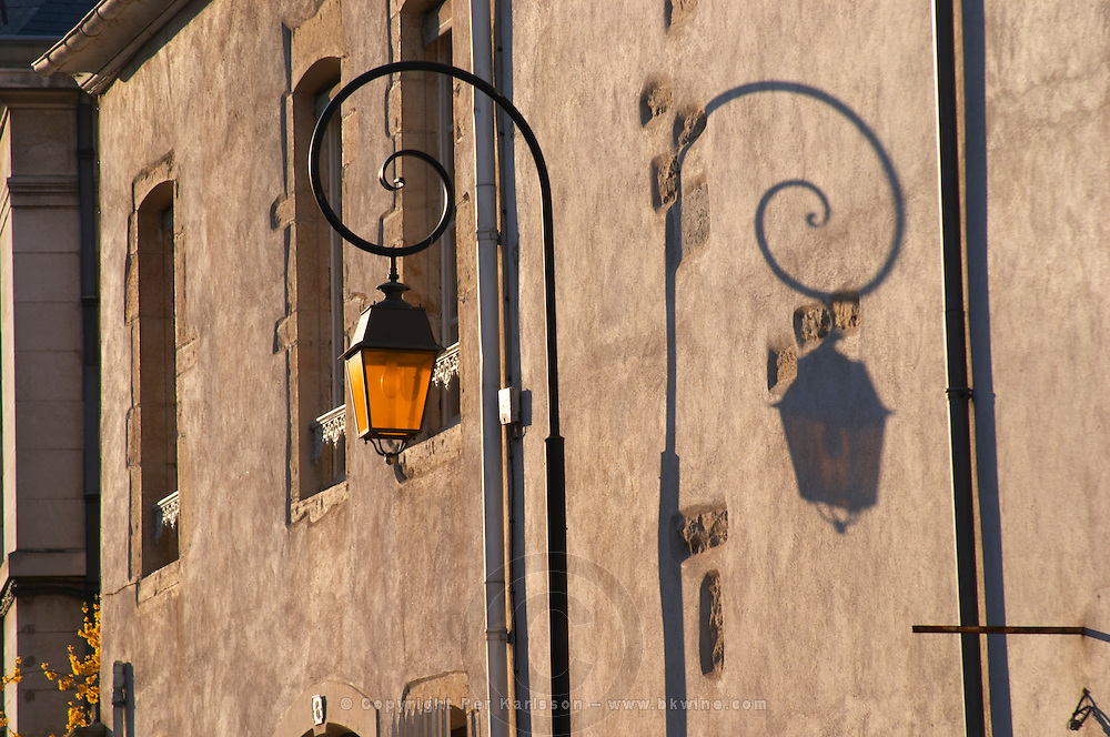 street lamp and shadow beaune cote de beaune burgundy france