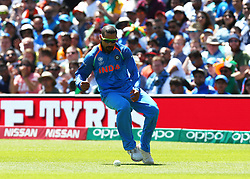 June 11, 2017 - London, United Kingdom - Shikhar Dhawan of India.during the ICC Champions Trophy match Group B between India and South Africa at The Oval in London on June 11, 2017  (Credit Image: © Kieran Galvin/NurPhoto via ZUMA Press)