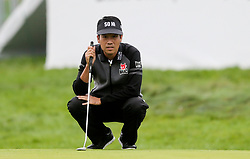 September 10, 2018 - Newtown Square, Pennsylvania, United States - Kevin Na lines up a putt on the 16th green during the final round of the 2018 BMW Championship. (Credit Image: © Debby Wong/ZUMA Wire)