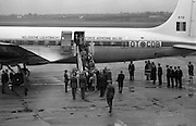 Belgian Royal Visit - King Badouin and Queen Fabiola arrived at Dublin Airport on a three-day state visit. <br /> 14.05.1968