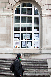 © Licensed to London News Pictures. 25/10/2020. Manchester, UK. Work by artist Caroline Coates in Manchester Central Library ready for the 50 Windows of Creativity art trail which will run from October 26th to December 5th, turning the city in to a large scale art gallery. Photo credit: Kerry Elsworth/LNP