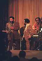 Cannonball Adderley with Nat Adderley and Walter Booker jam at the 1974 jazz cruise onboard the SS Rotterdam.