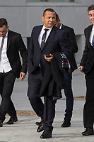 Neymar Jr´s father, Neymar Santos, arrives to the national court to testify in an investigation into alleged irregularities regarding his transfer to Barcelona, in Madrid, Spain. February 02, 2016. (ALTERPHOTOS/Victor Blanco)
