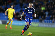 Lex Immers of Cardiff city makes a break. Skybet football league championship match, Cardiff city v Rotherham Utd at the Cardiff city stadium in Cardiff, South Wales on  Saturday 23rd January 2016.<br /> pic by  Andrew Orchard, Andrew Orchard sports photography.