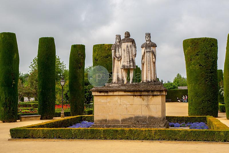 Monumento al Descubrimiento de America. Los Reyes Catolicos y Cristobal Colon. Alcazar de Cordoba. Andalucia. España. Europa ©Country Sessions / PILAR REVILLA