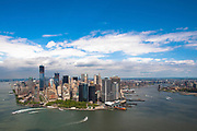 Aerial view of Manhattan, New York City, NY USA