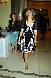 """TV presenter KATIE DERHAM at a party to celebrate the publication of Bruce Oldfield's autobiography """"Rootless"""" held in aid of Crimestoppers at Claridge's, Brook Street, London W1 on 22nd September 2004.<br /><br />NON EXCLUSIVE - WORLD RIGHTS"""